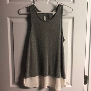 J. Crew layered fabric whispy tank top size small.